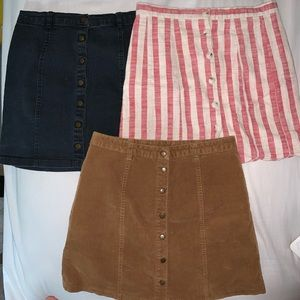 3 skirt bundle